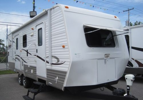 Harborview 24CKRBMB 2011 - Roulotte adaptée pour les gens à mobilité réduite. #roulotte #caravan #RVing #VR g #camping #MobilitéRéduite #ReducedMobility