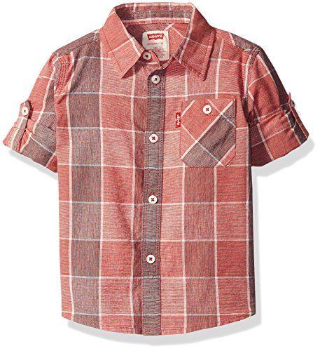 Levi's Boys' Long Sleeve One Pocket Denim  Shirt, Pompeia...