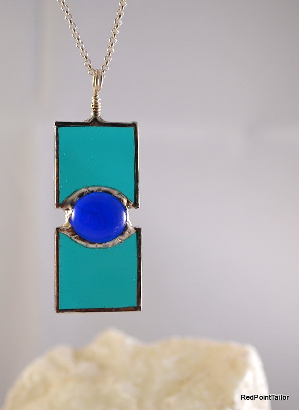 666 best stained glass jewelry images on pinterest glass jewelry art deco inspired jewellery stained glass pendant on etsy aloadofball Image collections