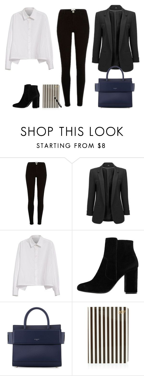 """""""Office look"""" by monika1555 on Polyvore featuring Y's by Yohji Yamamoto, MANGO, Givenchy, Henri Bendel and Fountain"""