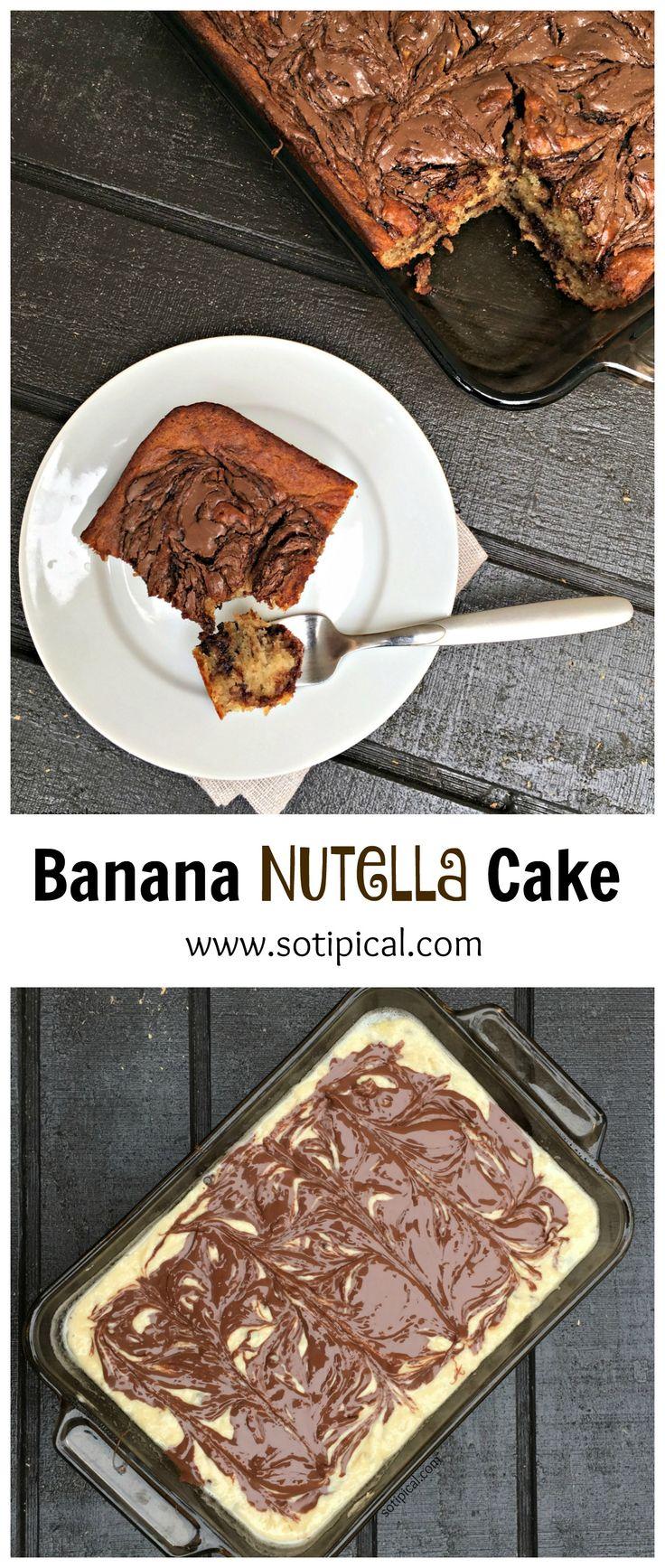 Banana Nutella Cake - So TIPical Me