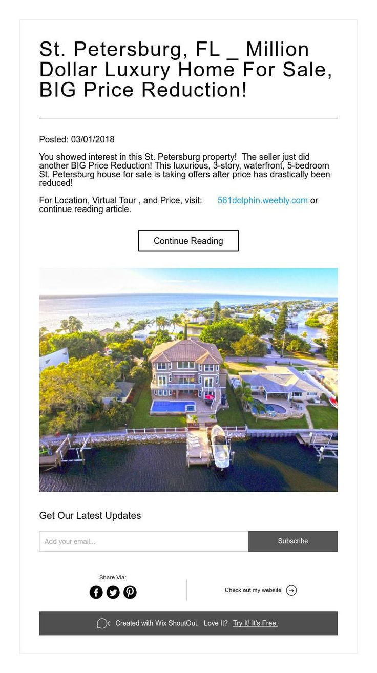St. Petersburg, FL _ Million Dollar Luxury Home For Sale, BIG Price Reduction!
