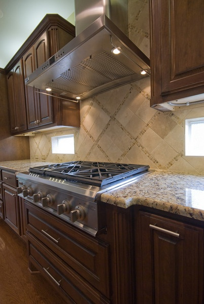 Newcreationsaustin.com Austin Kitchen Remodel   Granite Counter Tops, Dark  Wood Cabinets, Tile