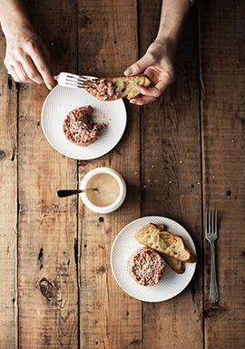 Tartare de bœuf au beurre de sésame - Recette - Trois fois par jour