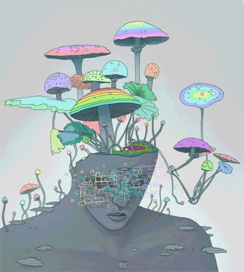 art eyes painting lsd mirror psychedelic reflection digital art ...