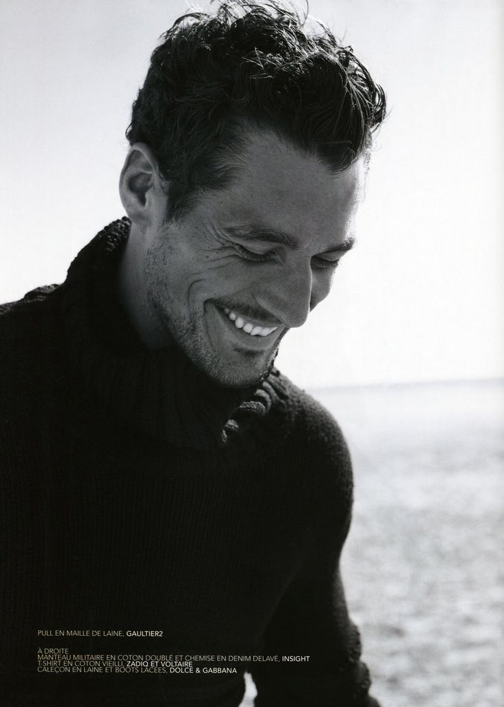 """David Gandy shows that a true smile shows in the eyes. They should always crinkle.""    Absolutely perfect !!"