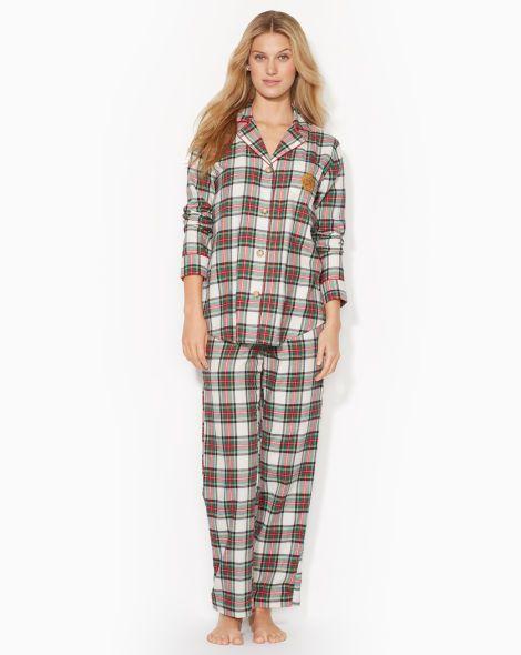 Plaid Flannel Pajama Set - Lauren Petite Sleepwear & Robes - RalphLauren.com