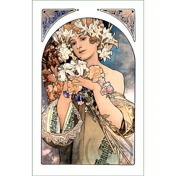 fabric panel - painting by Alphonse Mucha (55)