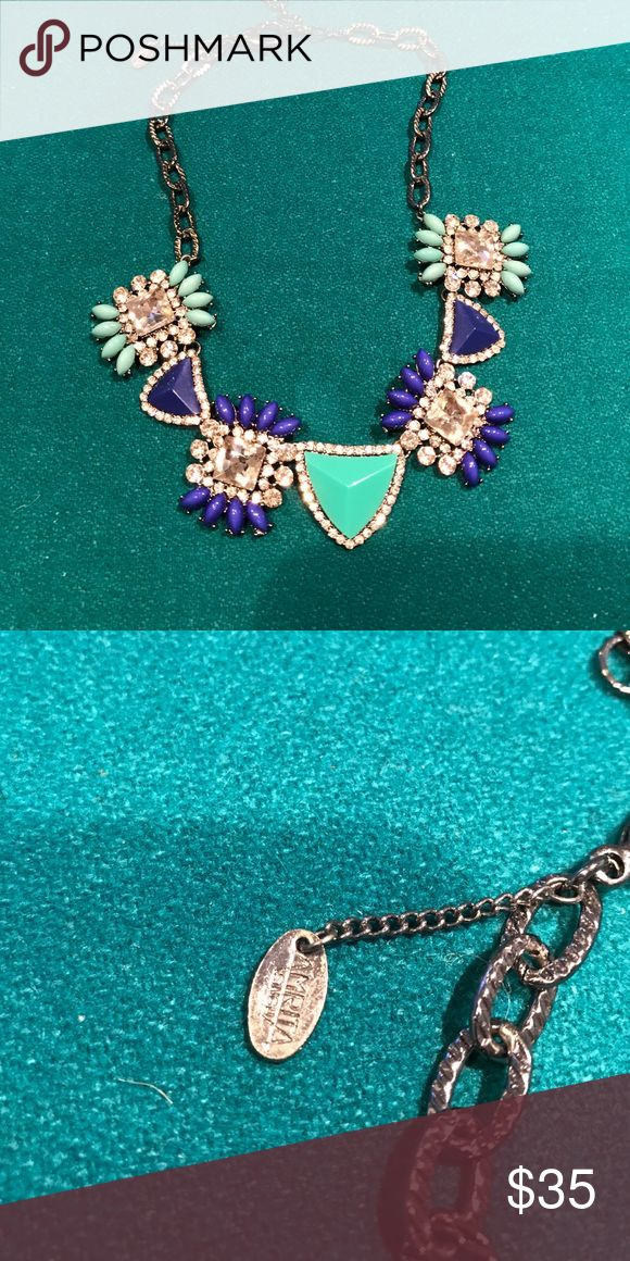 Amrita Singh statement necklace Bought at Nordstrom. Worn once. Statement necklace. Gunmetal all stones in tact  🚫No trades ✅ Reasonable offers considered  🚭 Smoke free home Amrita Singh Jewelry Necklaces