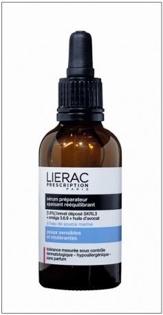 Lierac Prescription Serum Preparateur Ορός προετοιμασίας καταπραϋντικός & εξισορροπητικός για ευαίσθητες & δυσανεκτικές επιδερίδες. Σε μορφή ζελ, δροσερός και γαλακτώδης, καταπραϋνει την αίσθηση των ερεθισμών, της ζέστης ή του κρύου και ενυδατώνει με σεβασμό την επιδερμίδα σου.