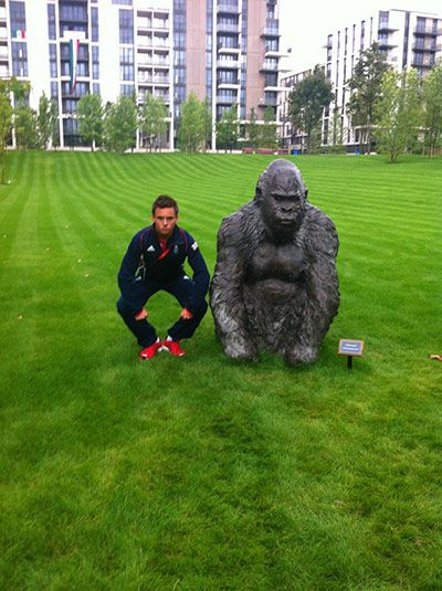 Athletes twitter pix: Tom Daley in the Olympic village