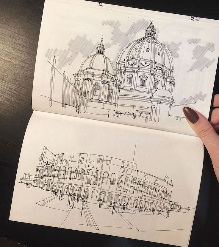 Architecture Student Revives the Magic of Architectural Hand Sketching Through These Marvelous Sketches