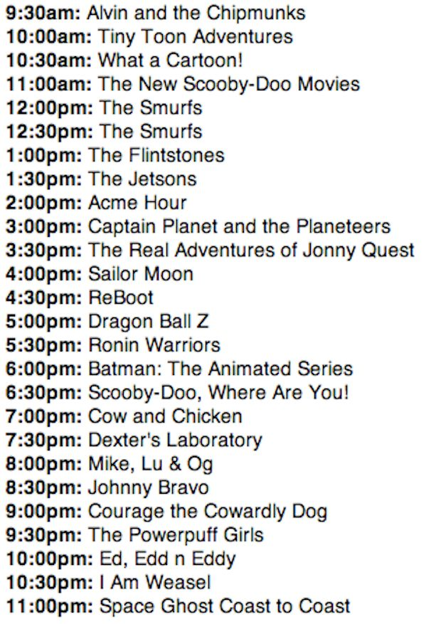 The Cartoon Network schedule looked like this: | What The World Was Like When The Class Of 2018 Was Born