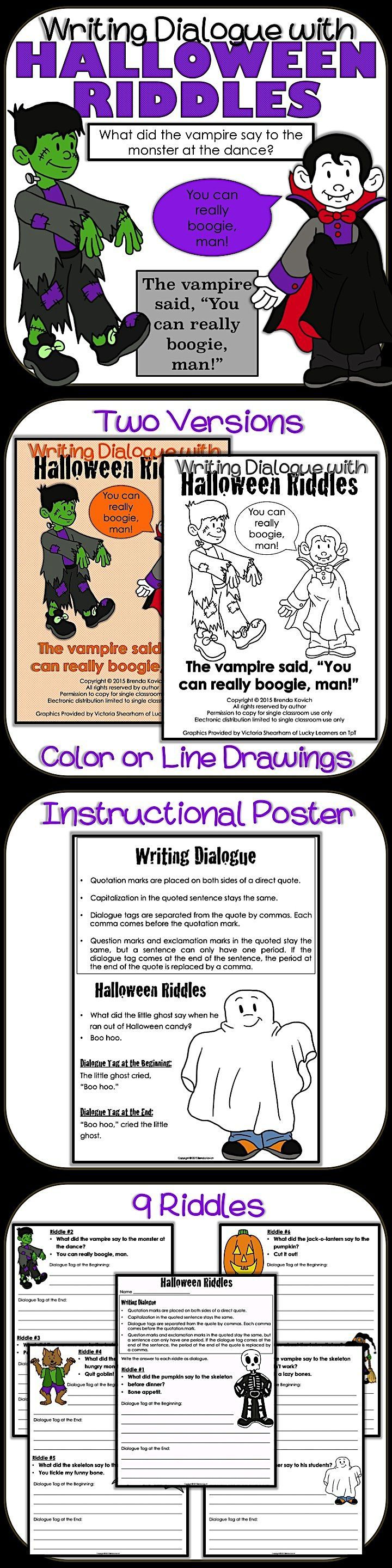 Halloween Dialogue  Using Quotation Marks In Direct Quotes