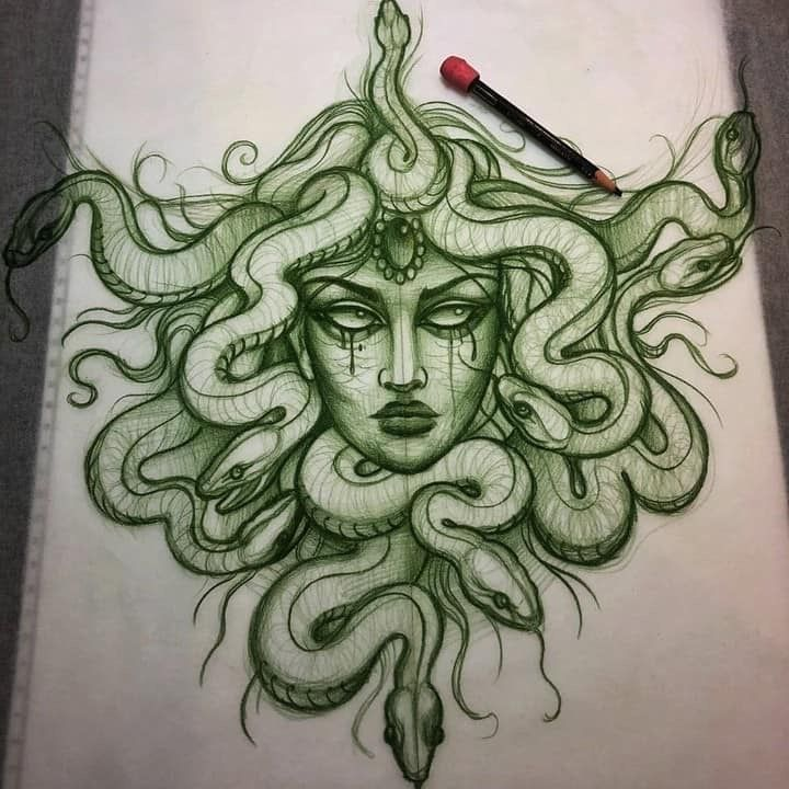 some people will get their Medusa tattoo to feel safer in their own skin Dope Tattoos, Body Art Tattoos, Small Tattoos, Sleeve Tattoos, Tattos, Medusa Tattoo Design, Tattoo Designs, Tattoo Ideas, Medusa Drawing