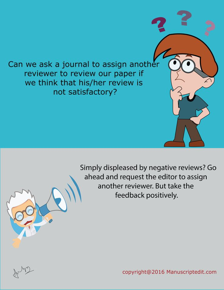 #‎Manuscriptedit‬ @ Can we ask a ‪#‎journal‬ to assign another reviewer to review our ‪#‎paper‬ if we think that his/her review is not satisfactory?  Simply displeased by negative reviews? Go ahead and request the ‪#‎editor‬ to assign another ‪#‎reviewer‬. But take the feedback positively.  #Manuscriptedit ‪#‎post‬ : http://bit.ly/1NvtPEX
