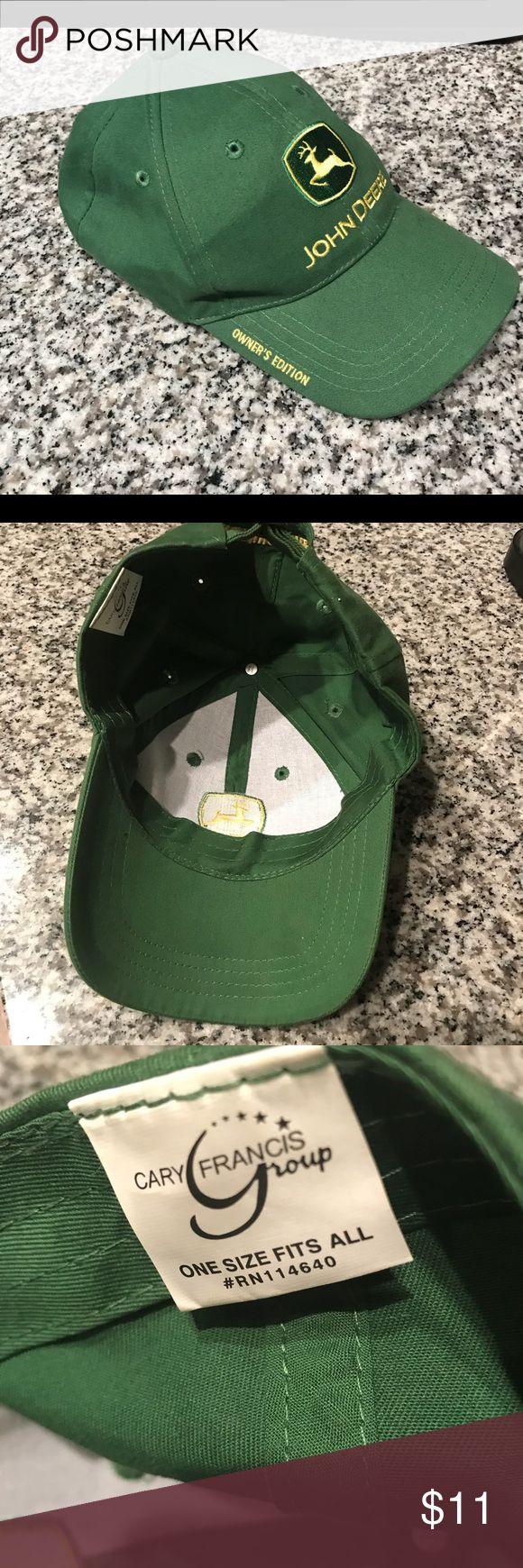 John Deere Owners edition green cap John Deere Owners edition green cap. 'Nothing runs like a Deere in the back and Adjustable strap. Nwot John Deere Accessories Hats