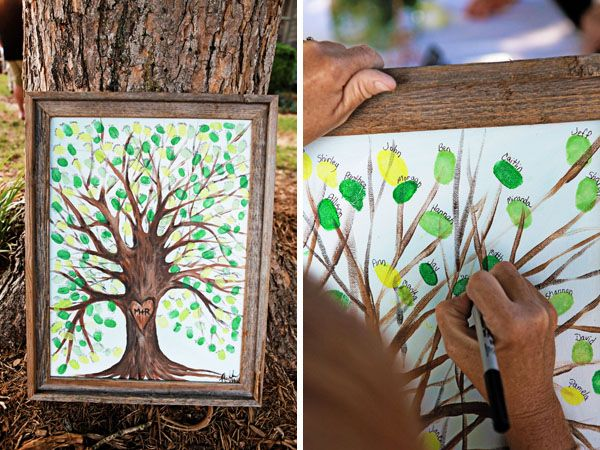 fingerprint tree-- I LOVE this idea. Especially for a huge family!