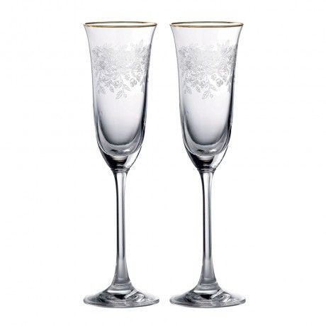 Set of 2 Old Country Roses Champagne Flutes