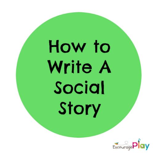 how to write a social story template