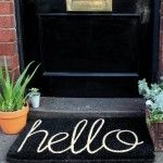 Hello Doormat by Down to the Woods Black