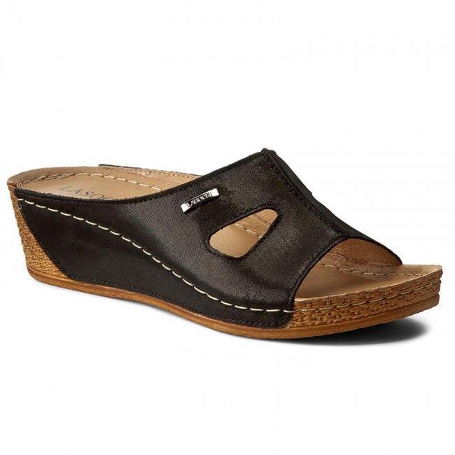 Klapki Lasocki 1817 07 Czarny Shoes Flats Fashion