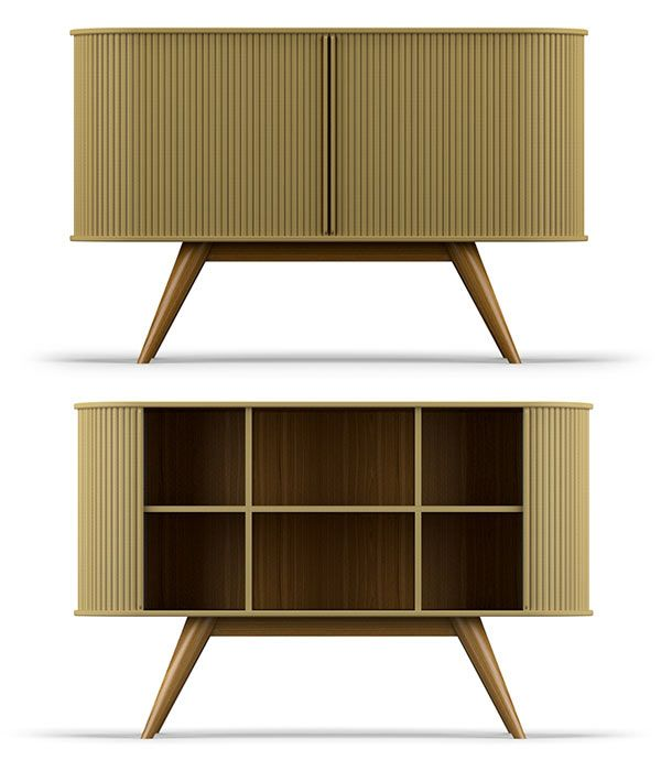 The A1 Sideboard By Francisco Almeida Is A Vintage Furniture Recreation.