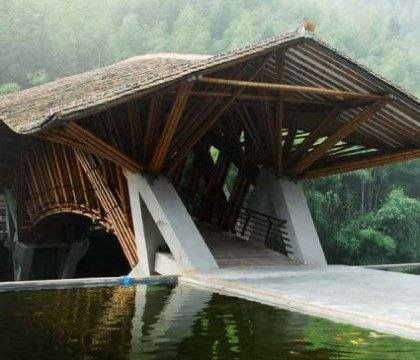 Bamboo architecture http://camptentlover.com/tent-camping-tips/