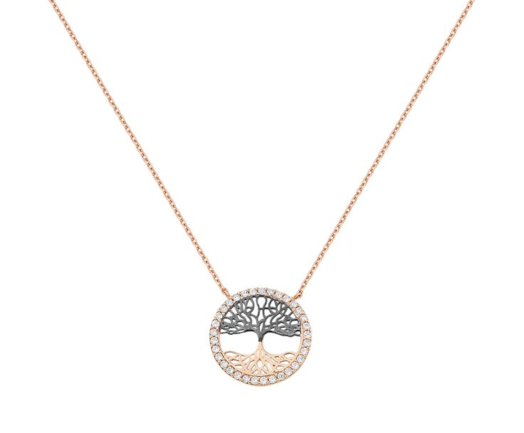 the tree of life in 14K rose gold necklace