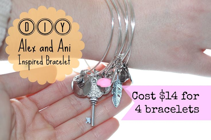 Make your own Alex and Ani Inspired Bracelet - looks very easy...