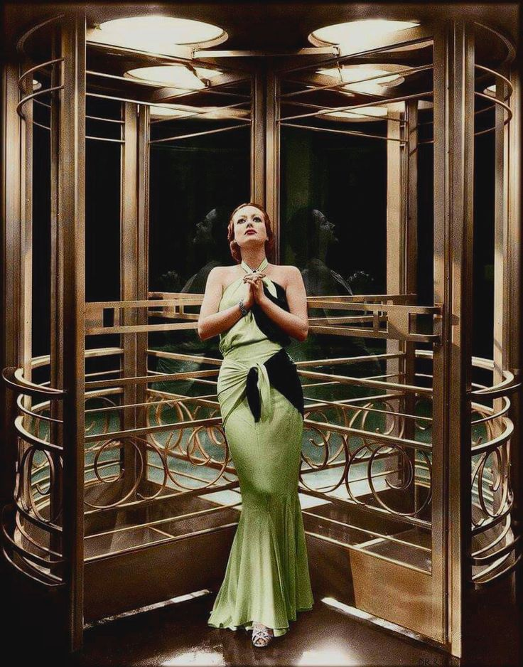 Joan in the revolving door of The Grand Hotel, also in 1932.