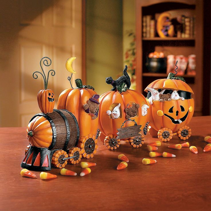 #OrientalTrading #HalloweenWishList -- The Pumpkin Express Train - OrientalTrading.com