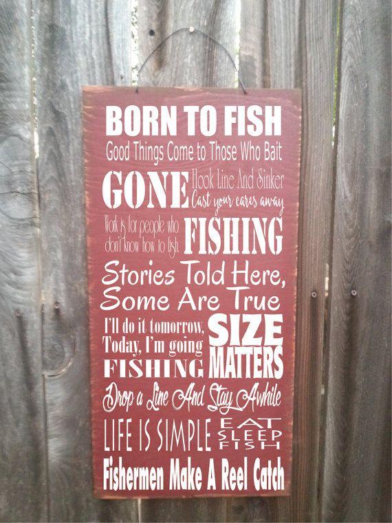 fishing sign fishing decor fishing by FarmhouseChicSigns on Etsy