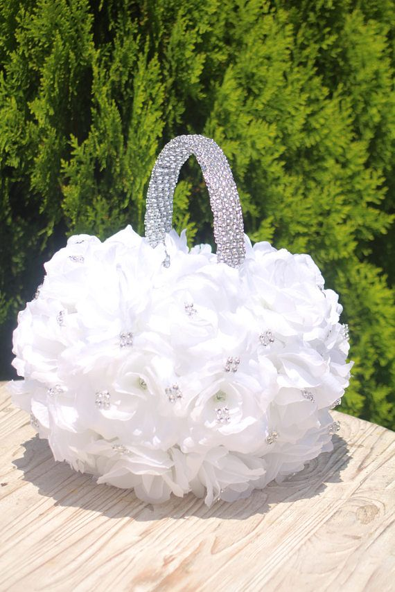 4c93de0286cb4 This beautiful flower ball bling flower girl basket is perfect for your  little flower girl or