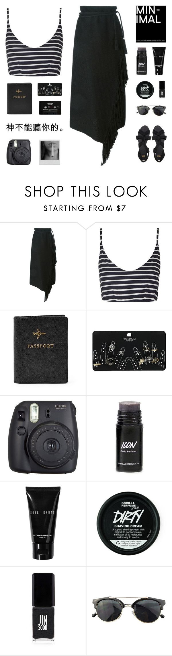 """""""ASPYN"""" by arditach ❤ liked on Polyvore featuring Lanvin, Topshop, FOSSIL, CASSETTE, Fuji, Bobbi Brown Cosmetics, JINsoon, Chicnova Fashion and ASOS"""