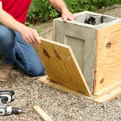 Pull the form apart to make a concrete planter as a this old house weekend remodel project