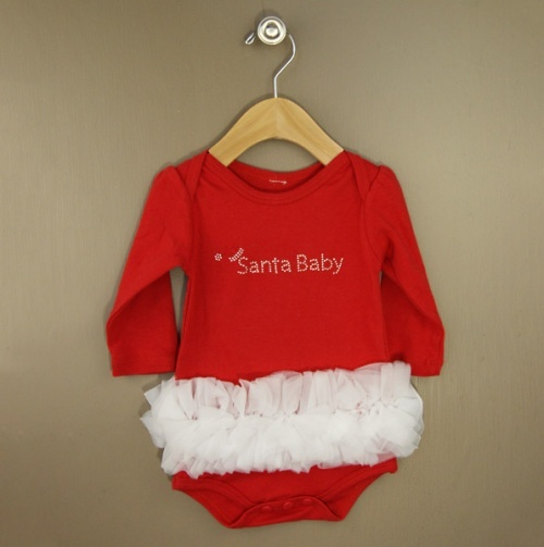 Super cute Santa Baby onesie & Tutu!