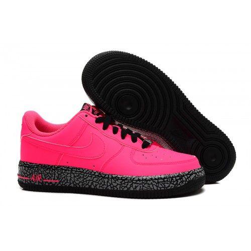 size 40 635e4 f4784 2018 NIKE AF1 Nike Air Force 1 Low AF1 Womens Shoes Pink Black