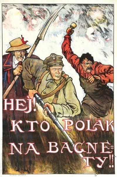 1920 Bitwa Warszawska Mackiewicz NA BAGNETY plakat