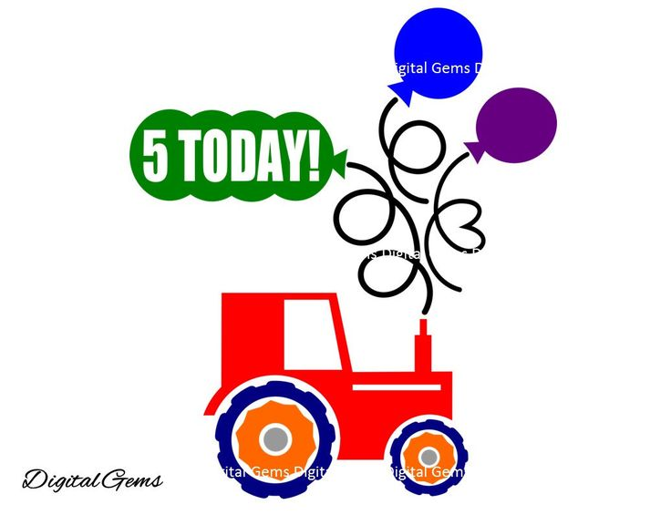 On Sale 50% Off! Happy 5th Birthday Boy Tractor, SVG Cutting File For Cricut Design Space, Instant Download, Small Commercial Use OK by DigitalGems on Etsy