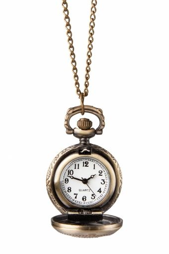 From Paris with Love! - 30s Petit Montre Ajour Fleur Horloge Ketting Bronze