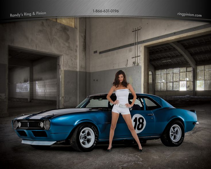 Randy S Ring Amp Pinion Model Diana With A Blue Chevy Camaro
