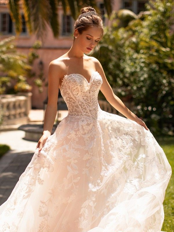 Rustic Lace Shimmer Organza Moonlight Couture Wedding Dress H1429 Wedding Dress Couture A Line Wedding Dress Wedding Dresses Lace