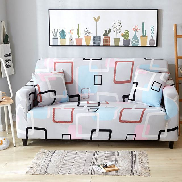 Flexible Geometric Patterned Sofa Cover Sofa Covers Square Sofa Old Sofa