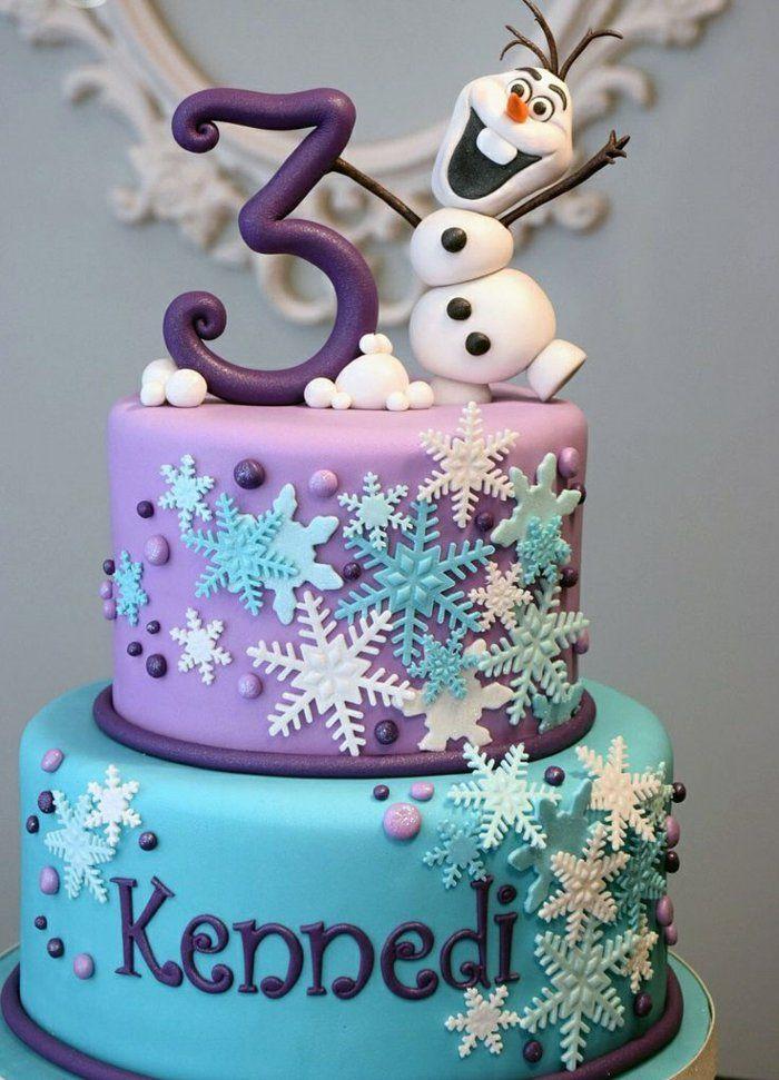 gateau anniversaire la reine des neiges ides dco la reine des neiges gateau - Gateau Anniversaire Fille 8 Ans
