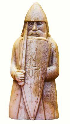 Viking Chess Piece, Danish or Norwegian 12th Century, Found on the Isle of Lewis, Scotland