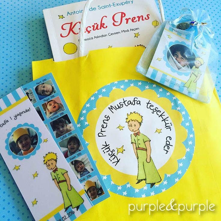 Küçük Prens Doğum Günü Hediye Seti | Hediyelik Kitap Ayracı | Doğum Günü Magneti…
