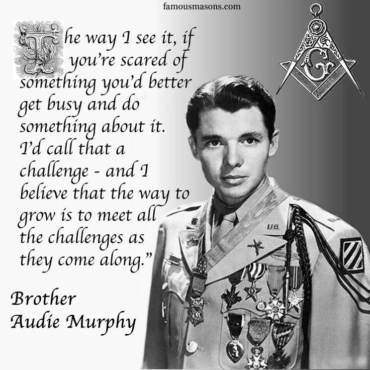 Brother Audie Murphy Famous Freemasons Pinterest