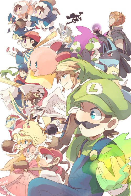 Luigi's Smash Bros. Team... The Characters I use for Super Smash Brothers