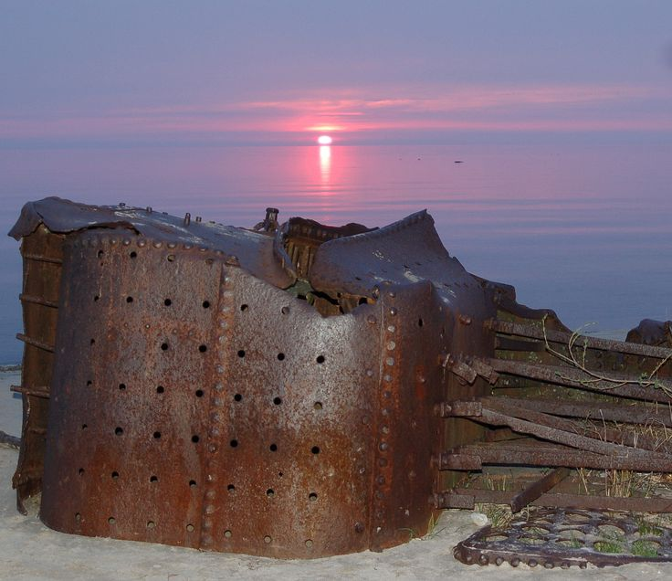 The sunset at Boiler Beach, Kincardine, ON